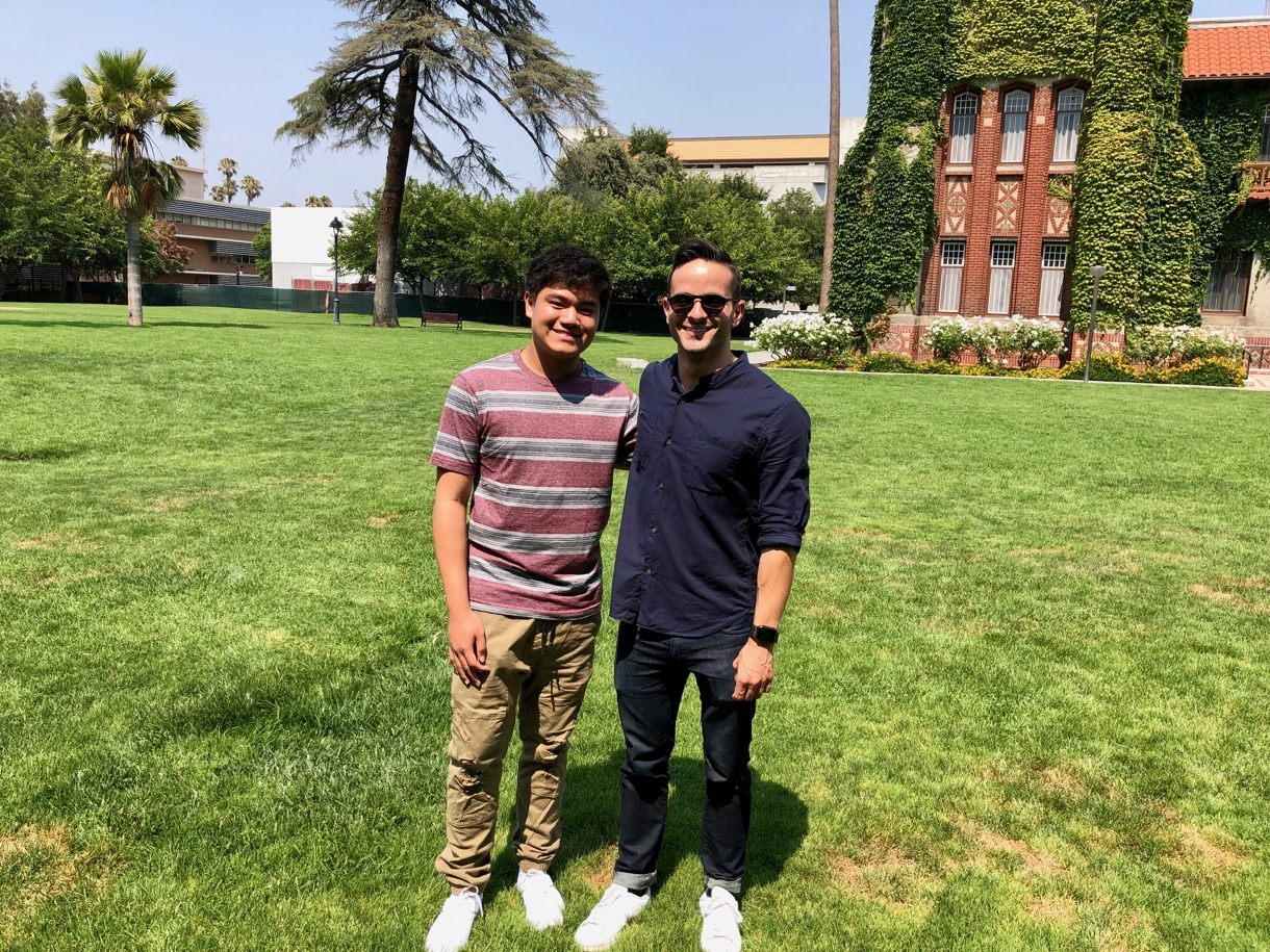 Rein and Antonio at San Jose State University